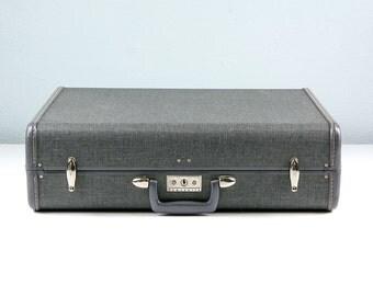 MINT Vintage Samsonite Suitcase, Tweed Suitcase, Vintage Luggage Suit Case, Samsonite Luggage, Vintage Travel, New Old Stock