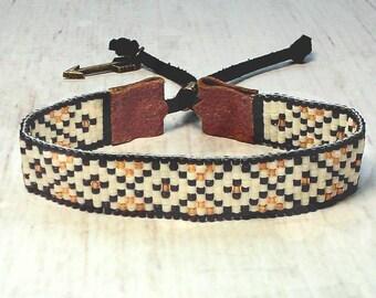 Bohemian Bracelet - Beaded Bracelet - Seed Bead Jewelry - Adjustable Bracelet - Boho Bracelet - Southwestern Bracelet - Unisex Bracelet