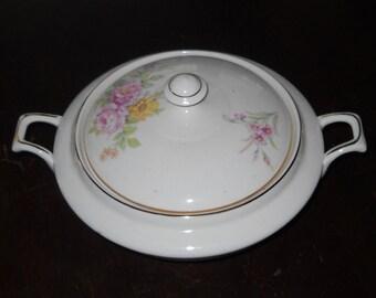 Tureen - Rose Pattern - China - Made in USA - FREE SHIPPING!