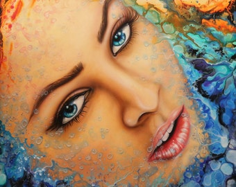 48x72 ORIGINAL Painting BIG Modern Acrylic Colorful Fine Art by Federico Farias