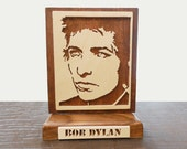 Bob Dylan Portrait Desk Plaque  Hand Cut Scroll Saw