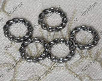 20pcs of Gunmetal plated Black fancy jumpring ,metal bead,loose round rings beads,circle connector links finding 20 mm