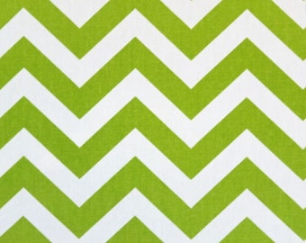 Custom Ironing Board Cover Chartreuse Green and White CHEVRON ZigZag Fabric