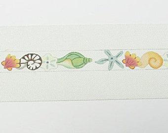 Seashells Needlepoint Belt*