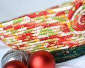 Decorative Christmas Bowl, SALE... Homemade Christmas Gift Basket, Holiday Decoration,  Holiday Table Decor, Handmade Coiled Basket