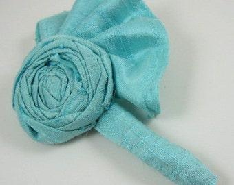 Aqua blue boutonniere - wedding - prom - groom - groomsmen - wedding accessory
