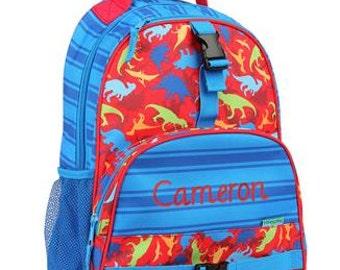 Personalized Boys  Backpack- Preschool Backpack DINOSAURS Backpack  Stephen Joseph Backpack