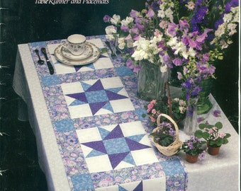 A Star for all Seasons Quilts Table Runners and Placemats