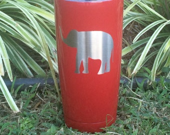 SALE Powder coated Yeti rambler tumbler Alabama Crimson Tide Roll Tide discounts for orders of 4 or more elephant 20oz or 30oz