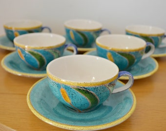 Eduardo Vega Cattail Cups and Saucers