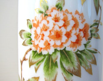 Rhododendrons Flowers Porcelain Vase Germany