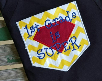 First Grade Rocks is Super Pocket Shirt 1st Grade Teacher Shirt