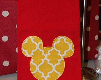 Mickey Mouse Tea Towel in Red