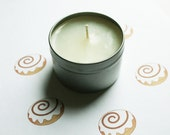Cinnamon Bun Scented Candle - Vegan Candle - Homemade Candles - Natural Candles - Tin Candle - Container Candle