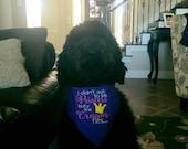 If the Crown Fits Princess Dog Bandana
