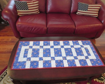 American Quilted Table Runner