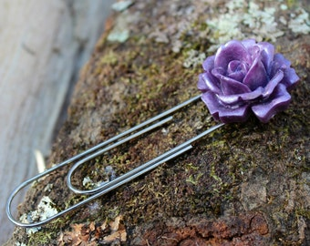 Large Rose Purple Bloom Bookmark