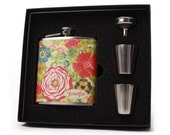 Cabbage Rose Flask for Women