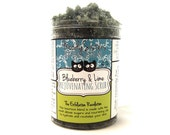 Facial Scrub - Blueberry Lime with coconut oil and organic sugar for dry and mature skin natural face exfoliation