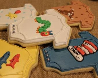Baby onesie sugar cookies storybook characters