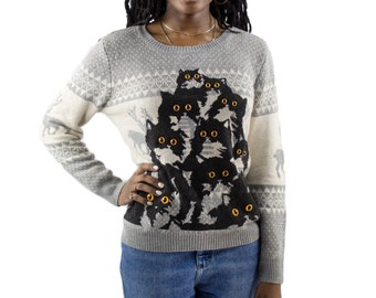 Reindeer Crazy Kitty Sweater