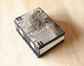 birch bark  mini journal - small wood book handmade - book lover gift - unique wedding gift - miniature book stocking stuffer- ready to ship