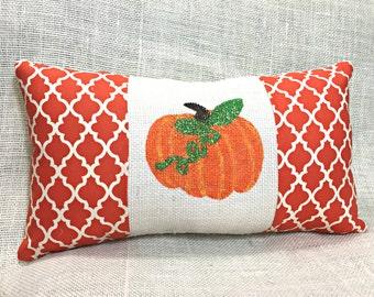 Pumpkin Pillow, Halloween Pillow, Fall Pillow, Halloween Decoration, Fall Decor, Pumpkin Throw Pillow, Fall Burlap Pillow, Pumpkin Decor