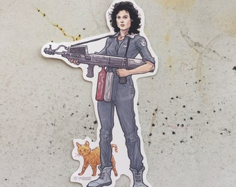 Ripley Alien waterproof sticker