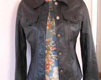 Vintage Rubbish Leather Jacket, Motorcycle Sz M