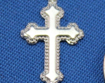 Sterling Silver Cross Charm 9x15mm 60516042