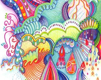 Intuitive Art Print | Storms Bring Rainbows