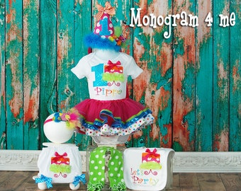 1st Birthday Cake smash tutu set, Birthday Hat, First Birthday cupcake, Bloomers, Leg warmers