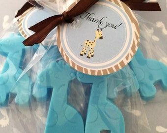 10 BABY GIRAFFE Party Favor Soaps: Baby Shower Favors, Birthday favors, Soap favors, Animal Favors, Giraffe Favors, Baby Sprinkle