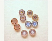 SALE 20% Off - 10pcs (5pair) 12mm Handmade Mix Photo Cabochons PC635-M12