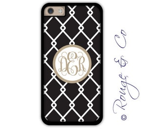 Monogram iPhone 6/6S * 6/6S PLUS * 5/5S * 5C personalized linked phone case in custom colors with monogram or name