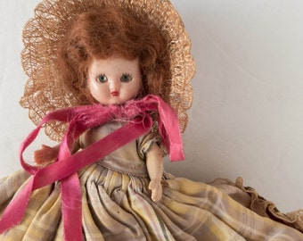 Vintage Storybook Doll 1940s Girl's Toy Collectible Red Hair