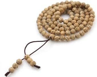 Tibetan 108 7mm x 7mm Star Moon Bodhi Seed Prayer Beads Meditation Yoga Japa Mala  M208-ZP003