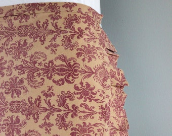 Upcycled Red and Brown Vintage Apron