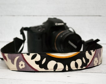 Purple DSLR Camera Strap - Padded Camera Strap - Camera Accessories - Nikon Strap - Canon - Sony - Photographer Gift - Purple Medallion