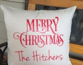Personalized Cotton Canvas Pillow