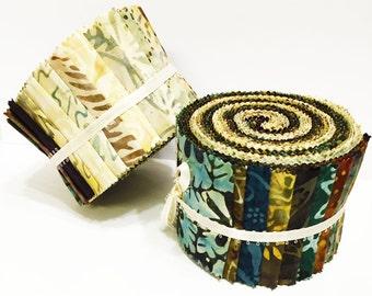 KOMO BATIKS Quilt Fabric Roll 2.5 inch strips