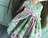 Blythe Dress - Green Floral