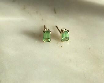 Tsavorite Garnet Stud Earrings