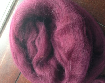 Maroon 2oz Merino Wool Spinning Fiber Limited Edition