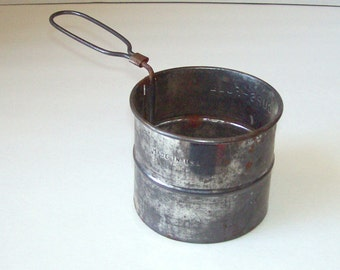 Vintage 2 cup sifter farmhouse kitchen decor