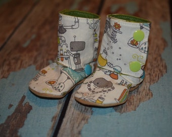 Removeable cuff booties/slippers 3-6m