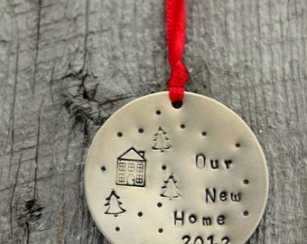 SALE First Home Owner Ornament, Personalized, Christmas Custom Ornament, Welcome Home Gift, New Couple, New Home, Wedding Gift