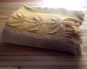 gold and yellow vintage throw blanket