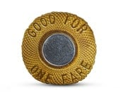 Custom double sided Subway token with gusset.