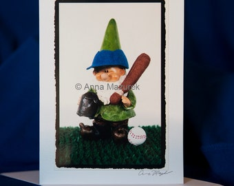 Baseball Birthday Card - Boy Birthday Card - Happy Birthday Boy - Funny Gnome Birthday Card -